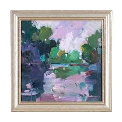 """Jose Trujillo Oil Painting """"Lavender Twilight"""""""