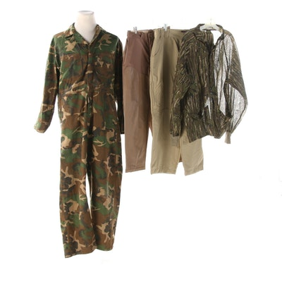 Men's Ranger Camouflage Print Coveralls and Other Clothing Separates