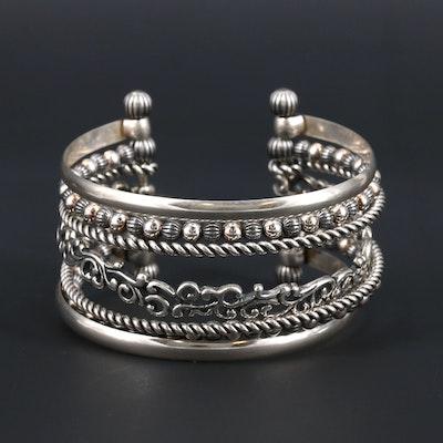 Carolyn Pollack Sterling Silver Multi Row Cuff bracelet