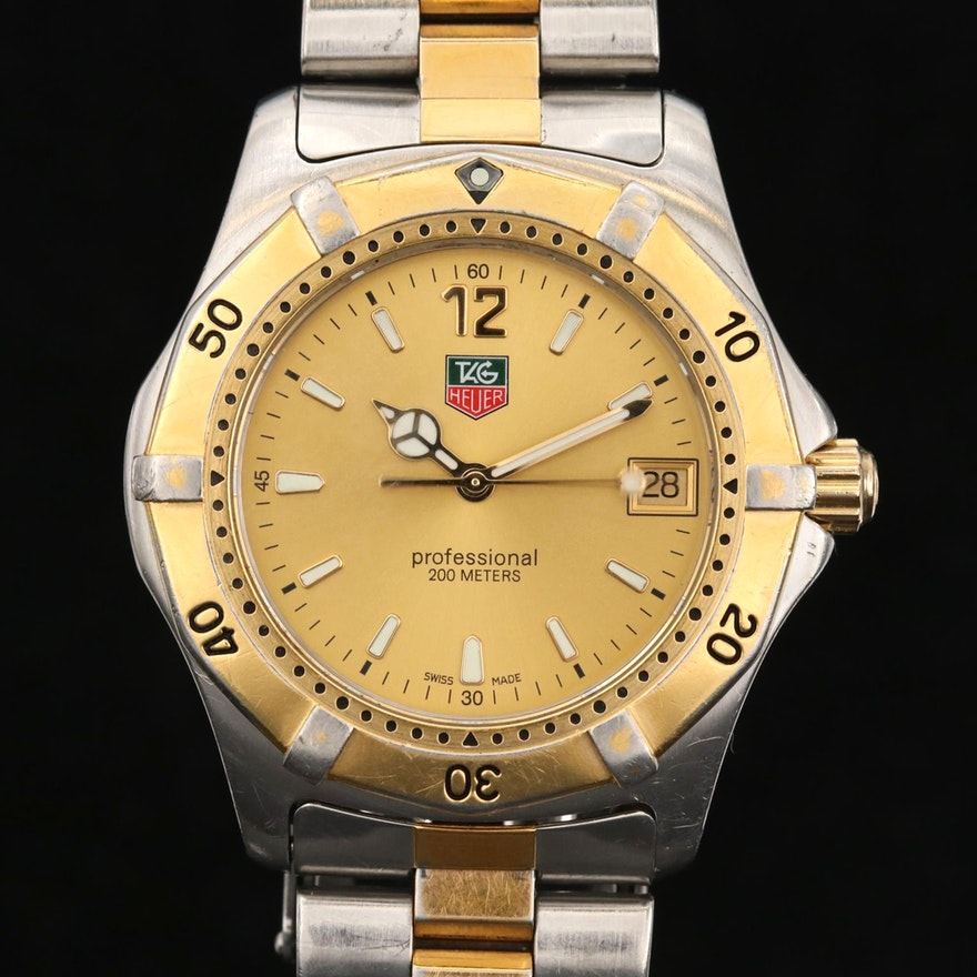 TAG Heuer 2000 Two-Tone Quartz Wristwatch