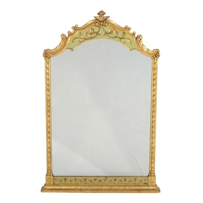 French Regency Style Gilt Vanity Wall Mirror