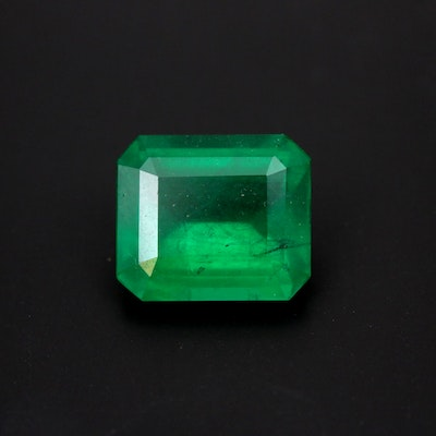 Loose 3.25 CT Emerald Gemstone with GIA Report