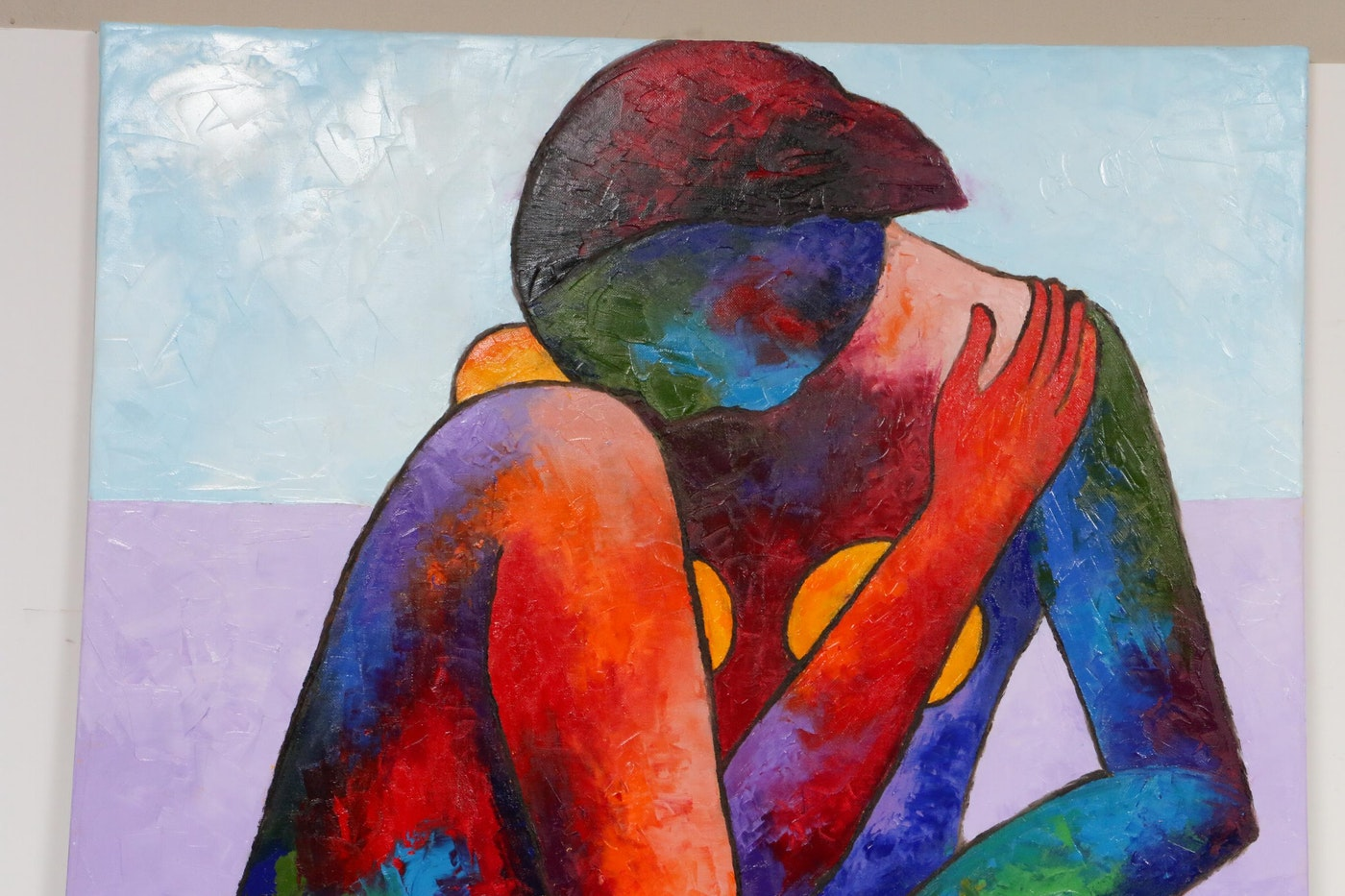 "Oluwakemi Omowaire Oil Painting ""Feelings,"" 2019"