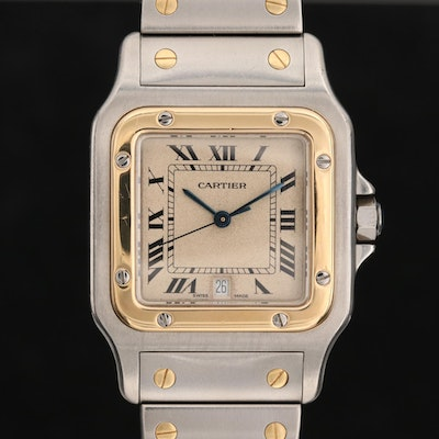 Cartier Santos Galbee 18K Yellow Gold and Stainless Steel Wristwatch