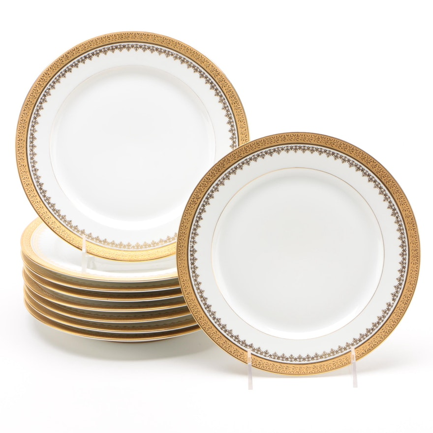 Encrusted Limoges Porcelain Salad Plates from Davis Collamore & Co.