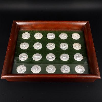 Medallic Art Company .999 Silver Ducks Unlimited Medal Set
