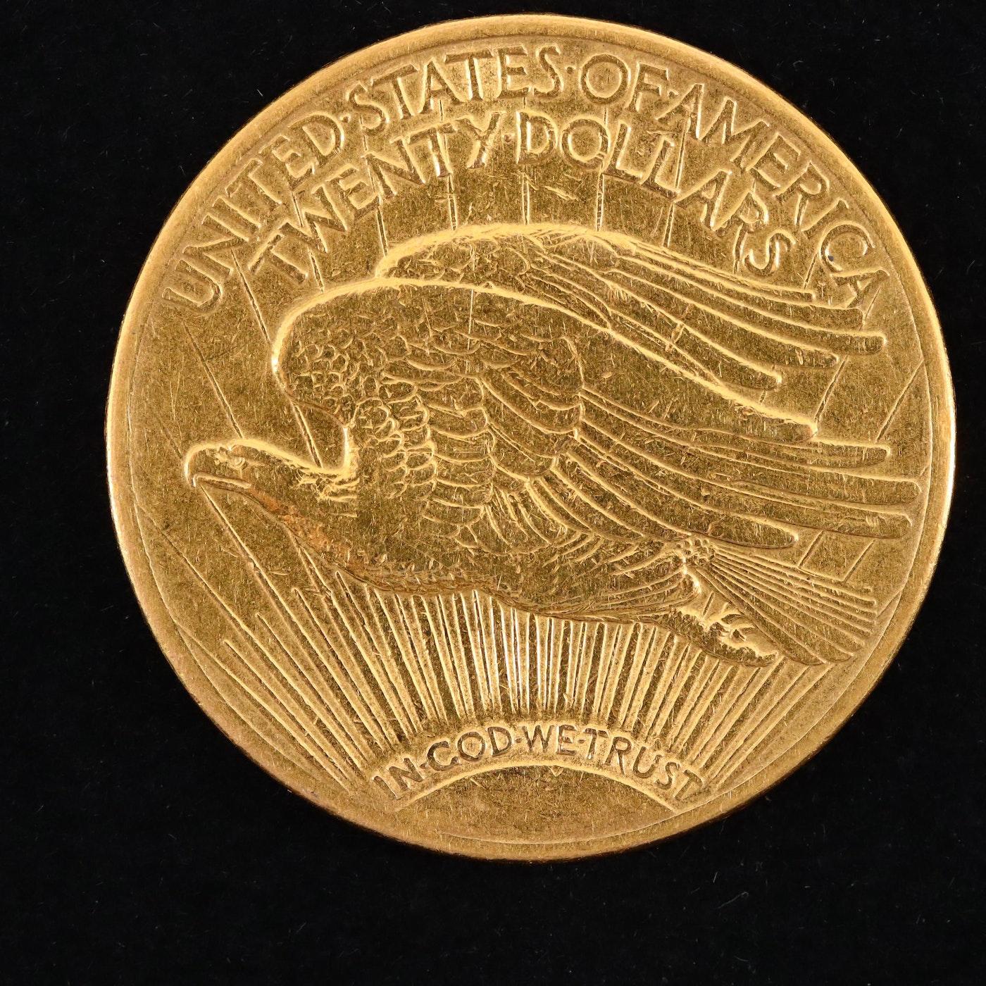 1914 d 20 dollar gold coin