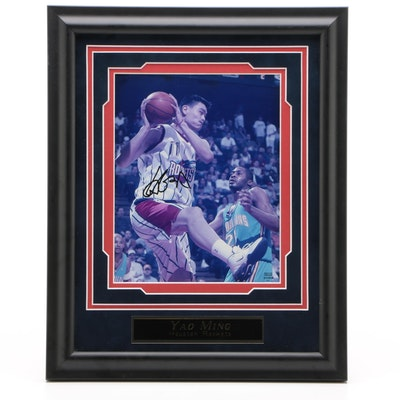 Yao Ming Houston Rockets Signed NBA Photo Print, COA