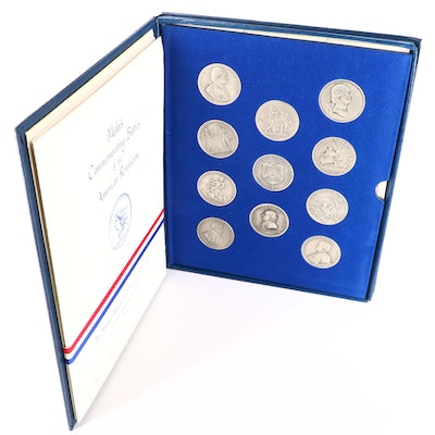 "1973 ""Medals Commemorating Battles of the American Revolution"" Medals Set"