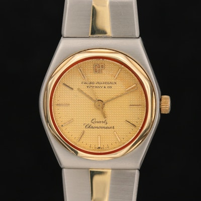 "Vintage Girard Perregaux for Tiffany & Co. ""The Laureto"" Wristwatch with 14K"