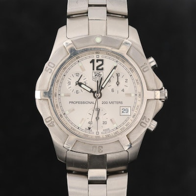 TAG Heuer Professional 200 Meters Stainless Steel Chronograph Wristwatch