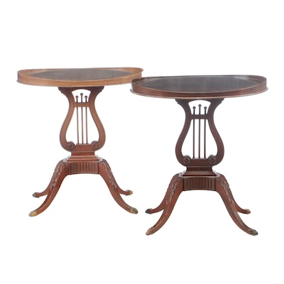 Mersman Furniture, Near Pair of American Classical Style Mahogany Side Tables