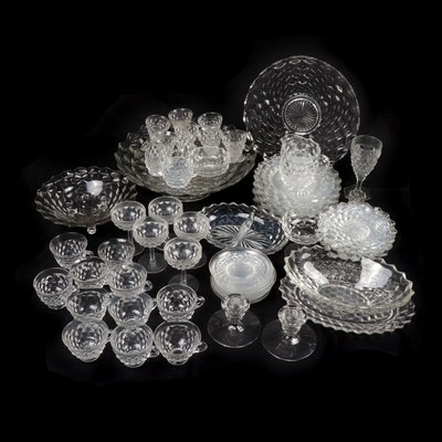 "Fostoria ""American"" Pressed Glass Dinner and Serveware"