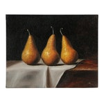 "Houra Alghizzi Oil Painting ""Three Bosc Pears"""