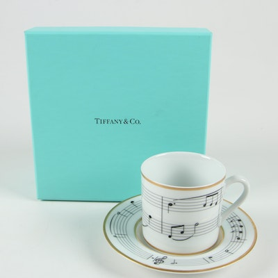 "Tiffany & Co. ""Moon River"" Porcelain Teacup and Saucer, 1994"