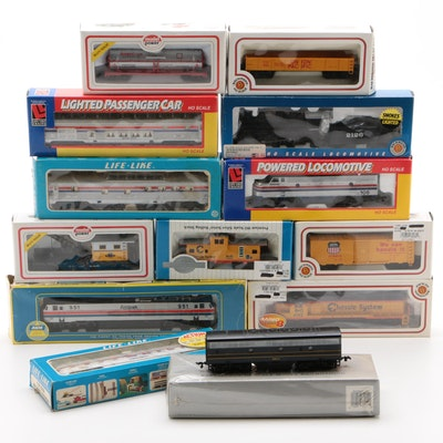 Bachmann, AHM, Model Power and Other HO Gauge Train Cars in Original Packaging