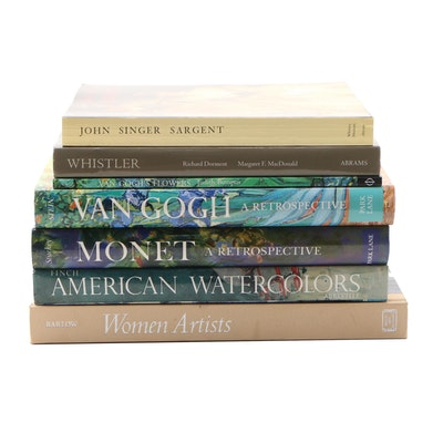 Art Books Featuring Monet, Van Gogh, and John Singer Sargent
