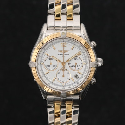 Breitling Chrono Cockpit 18K Gold and Stainless Steel Automatic Wristwatch