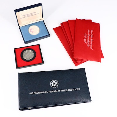 Group of Various U.S. Bicentennial Medals, Coins, and Booklet