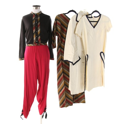 Claire McCardell Dress, Talbott Cardigan and Sandra Sage Dress Suit, Vintage