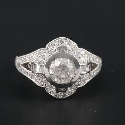Platinum 1.65 CTW Diamond Ring