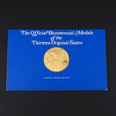 Franklin Mint New York American Revolution Commemorative 24K Gold Medal