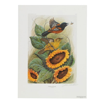 "John Ruthven Offset Lithograph ""Orchard Orioles"""