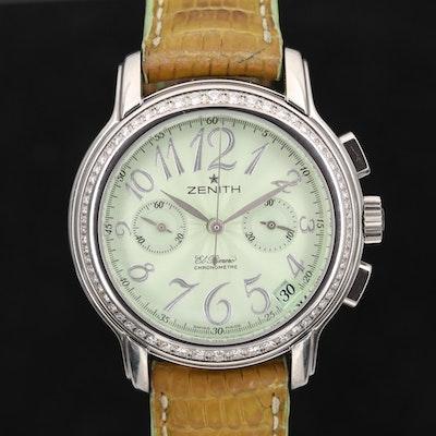 Zenith Baby Doll Star Automatic Chronograph Wristwatch with Diamond Bezel