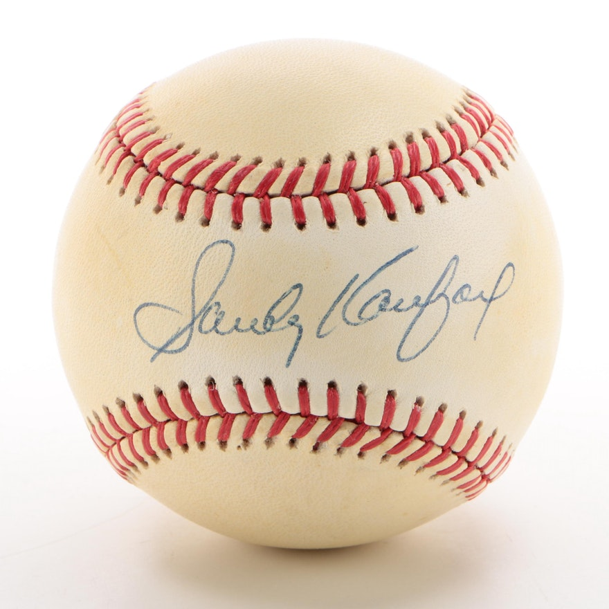 Sandy Koufax Signed Rawlings National League Baseball