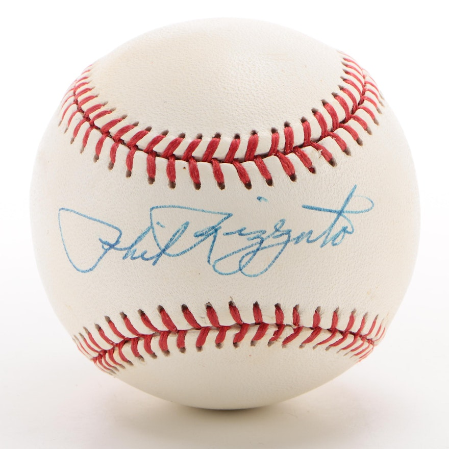 Phil Rizzuto Signed Rawlings American League Baseball