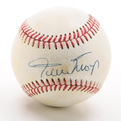 Willie Mays Signed Rawlings National League Baseball
