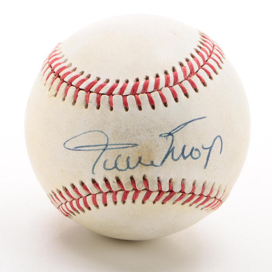 Willie Mays Signed Rawlings National League Baseball