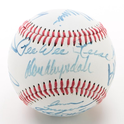 Celebrity and Baseball Players Signed Baseball