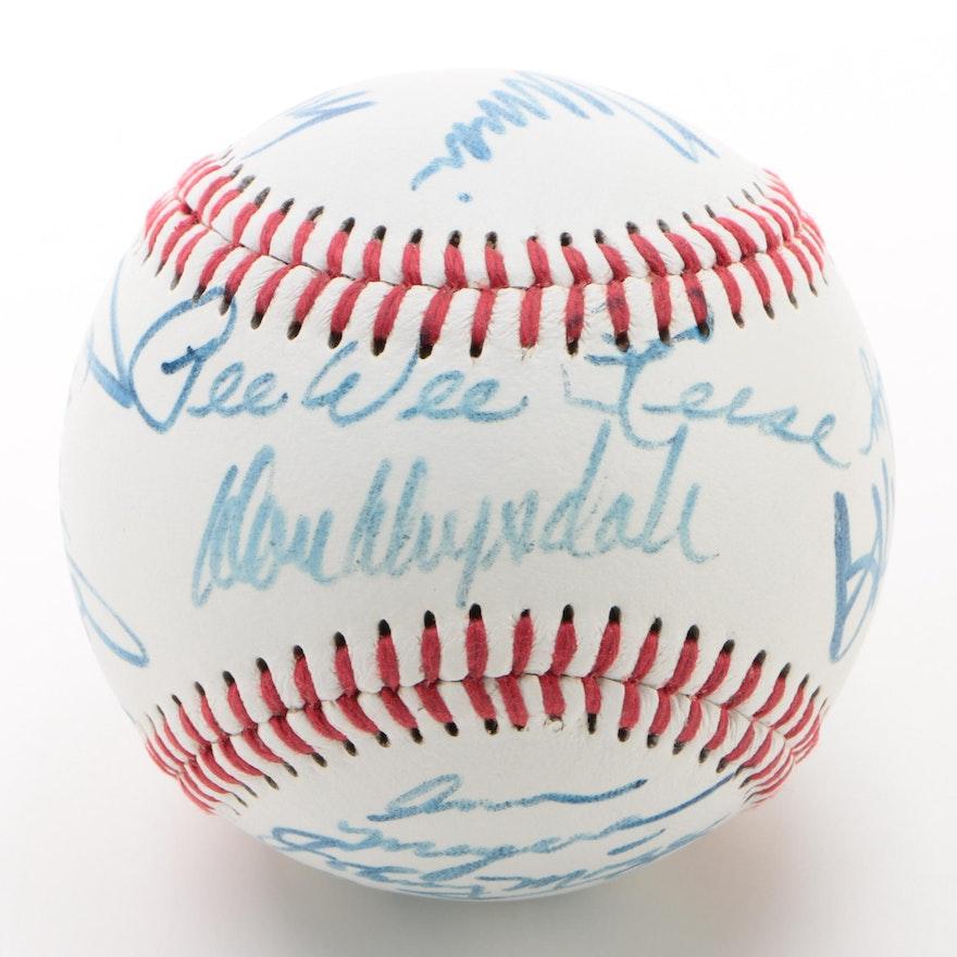 Celebrity and Baseball Players Signed Baseball