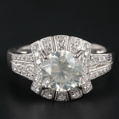 Platinum 2.20 CTW Diamond Ring