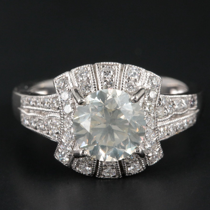 Platinum 2.20 CTW Diamond Ring
