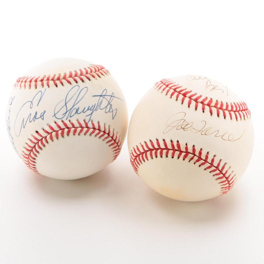 Joe Torre and Enos Slaughter Signed Baseballs