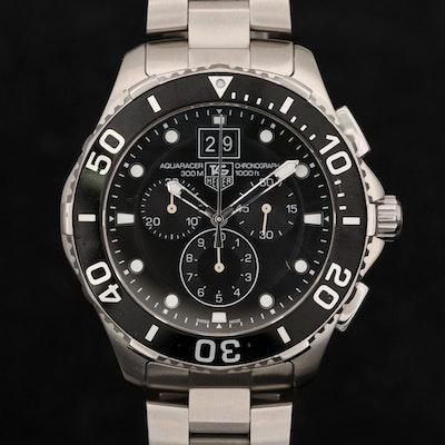 TAG Heuer Aquaracer Grande Date Chonograph Wristwatch