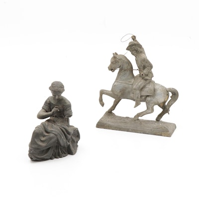 Spelter Sculptures, Late 19th Century