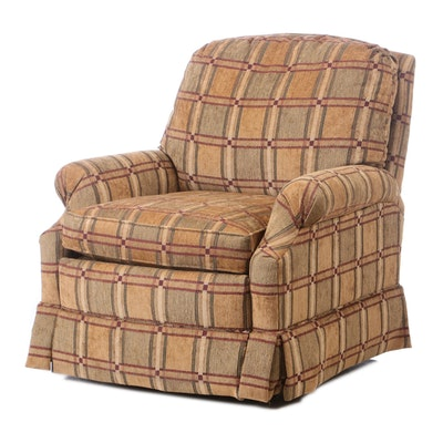 Motioncraft Upholstered Rocker Recliner Arm Chair, Mid-20th Cnetury