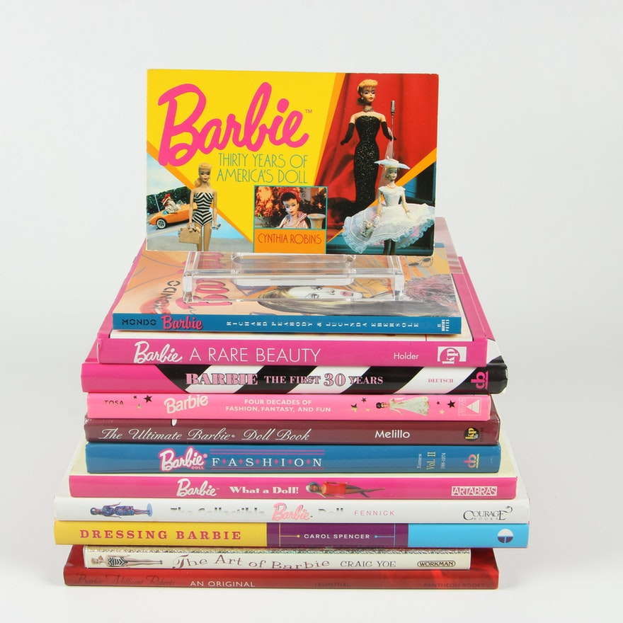 "Books on Barbie Including ""Barbie: Four Decades of Fashion, Fantasy, and Fun"""