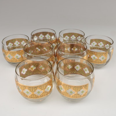 """Culver """"Valencia"""" Glass Roly Poly Glasses, Mid-20th Century"""