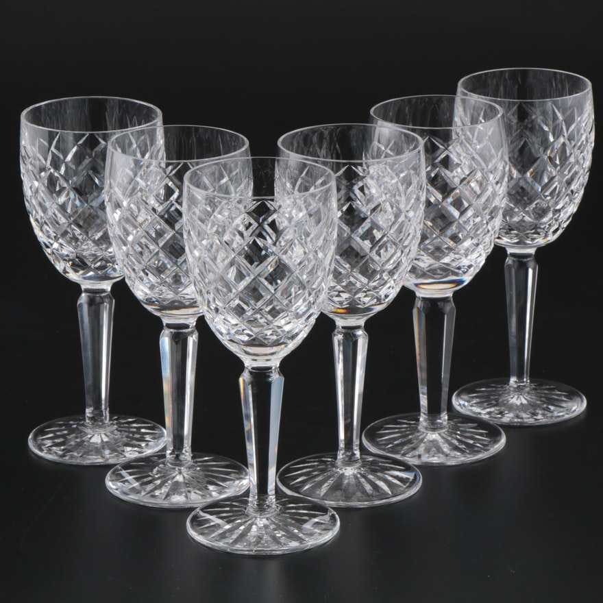 """Waterford Crystal """"Comeragh"""" Claret Wine Glasses, Late 20th Century"""