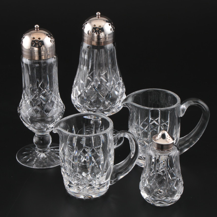 "Waterford Crystal ""Lismore"" Sugar Shaker and More, Late 20th Century"