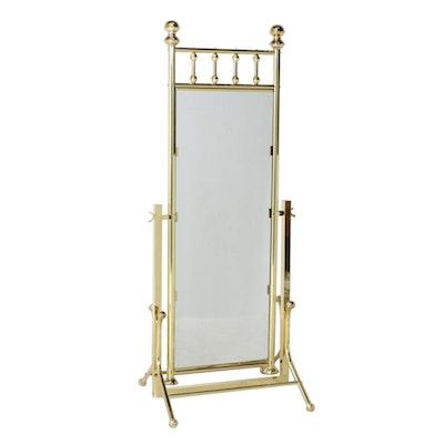 Contemporary Brass Cheval Mirror