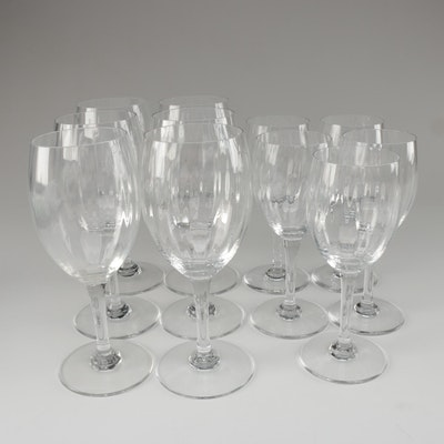 "Baccarat ""Livourne"" Crystal Water Goblets and Claret Wine Glasses, 1991–1993"