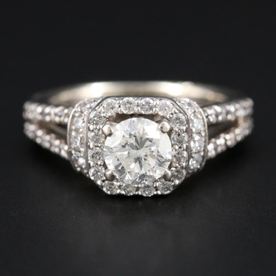 14K White Gold 1.33 CTW Diamond Ring