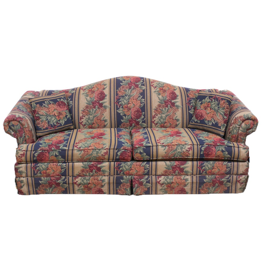 Basset Furniture Camelback Sofa, Late 20th Century