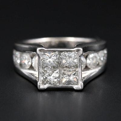 14K White Gold 3.50 CTW Diamond Ring
