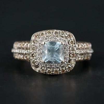 Le Vian 14K Yellow Gold Aquamarine and Diamond Ring
